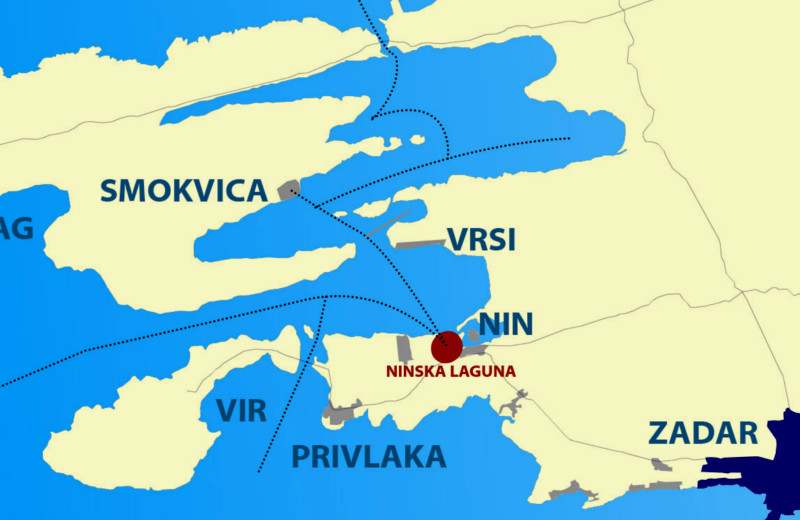 Nin area map - Croatia