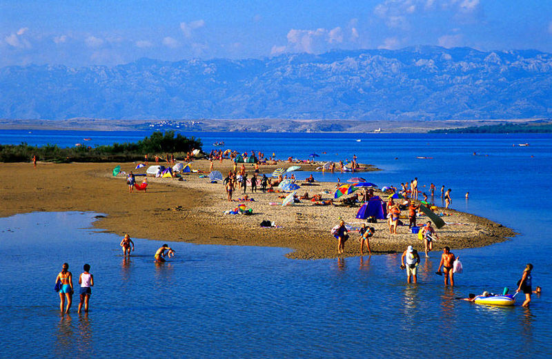 Sandy Beach in Nin, Croatia