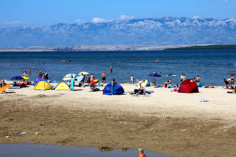 Sandy beach, Zadar, Nin Croatia
